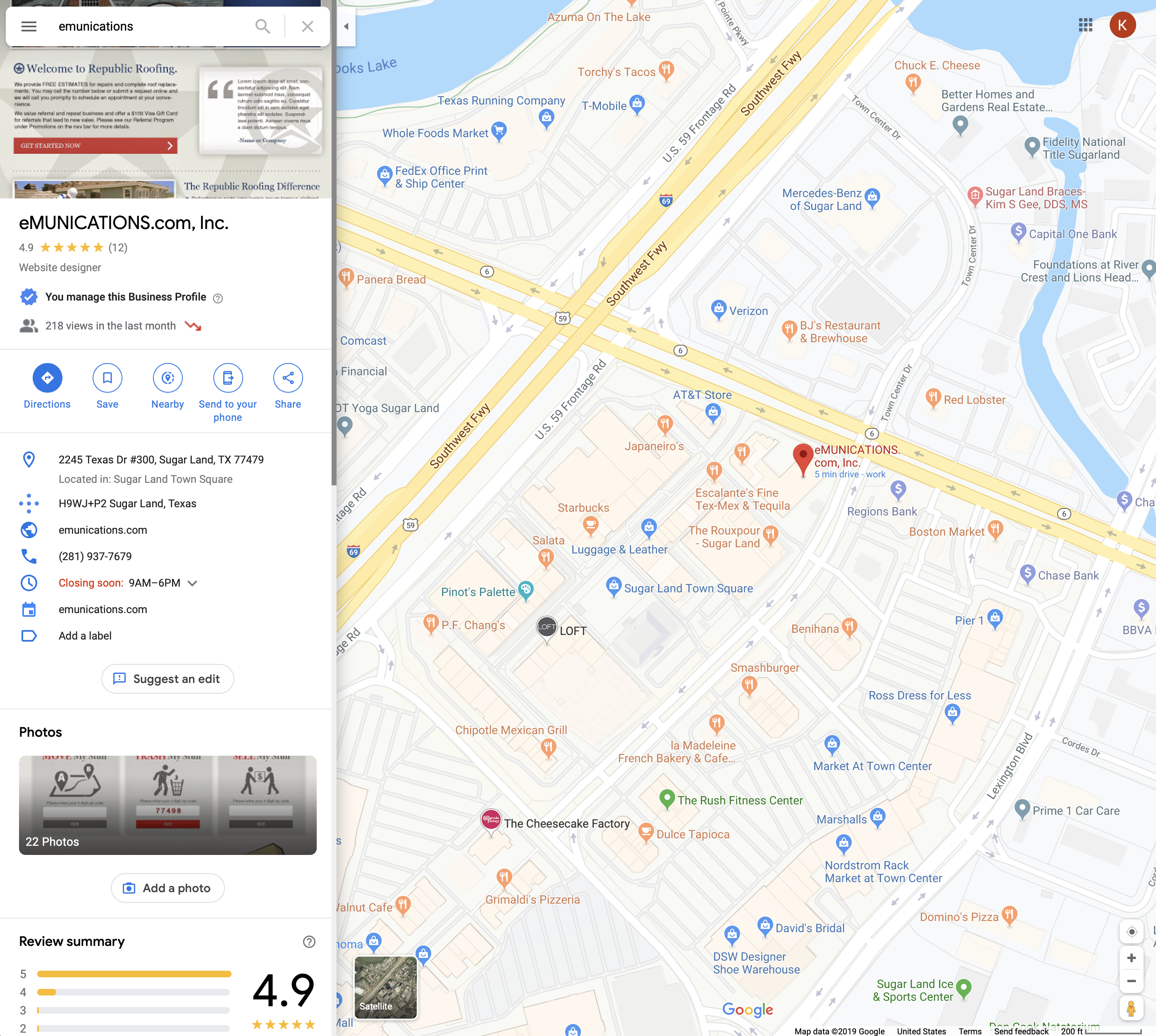 Google Maps eMUNICATIONS